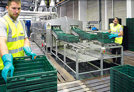 The new technology at Linpac can clean 30,000 trays every single day.