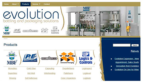 A recently-launched website for Peebles-based Evolution Bottling and Packaging Solutions includes a wide range of labelling equipment.
