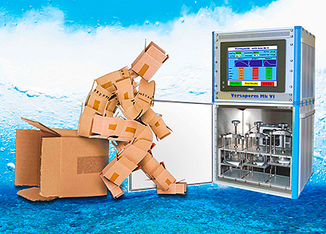 PERMEABILITY of the package is measured by the latest equipment from Versaperm.