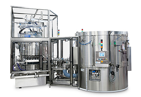 Serac is now offering complete lines that include packaging distribution, filling and capping functions linked through a starwheel positive transfer system.
