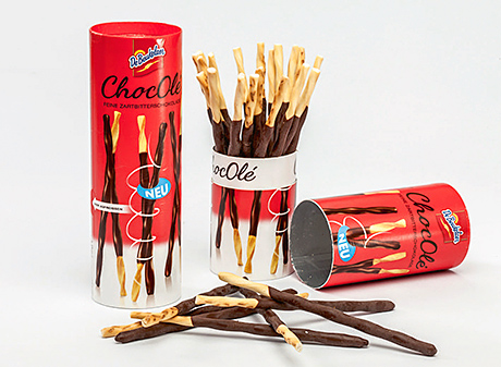 De Beukelaer's ChocOlé chocolate sticks won in the sustainability category