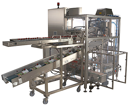 Machine fills flexible packages for juices and wine