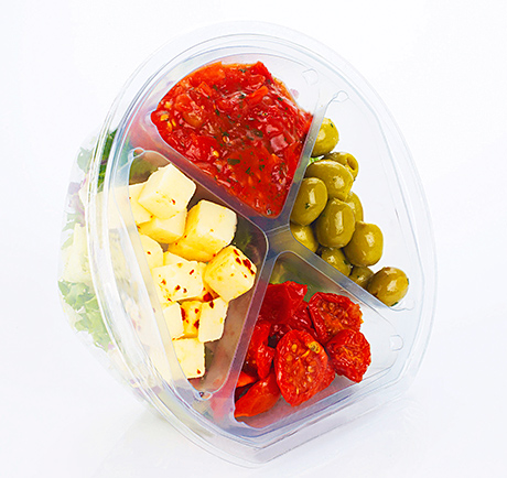 Salad container range extended