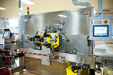 The PES integrates all packaging lines with the ERP, supporting product traceability.