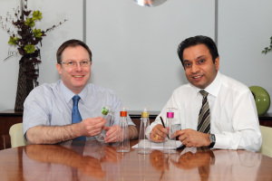 Clive Broadbent and Bharat Mistry of Global One-Pak
