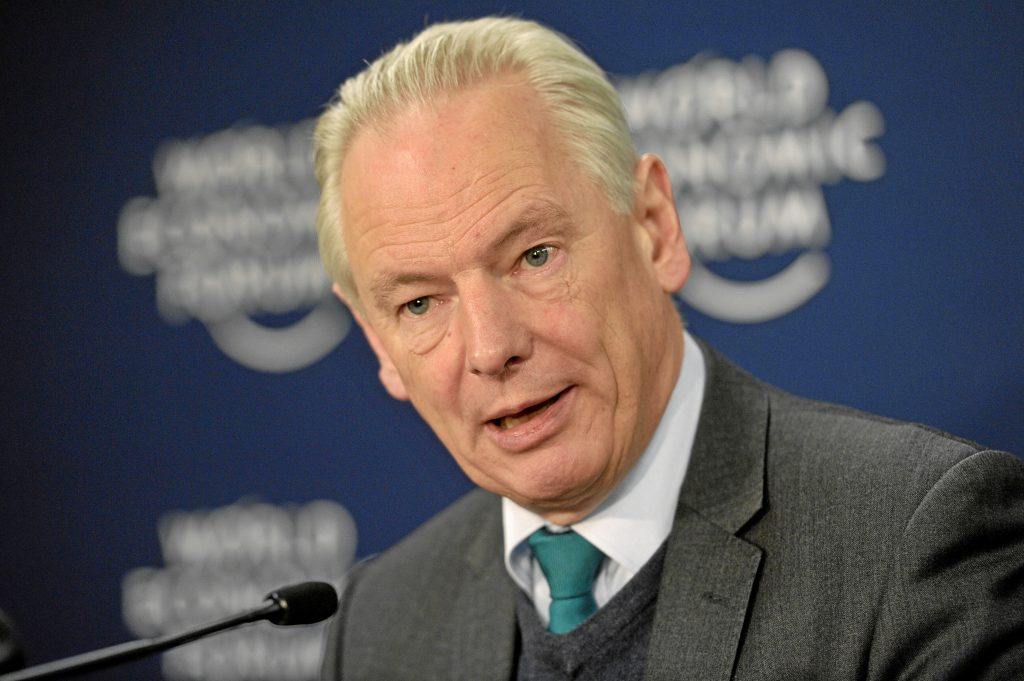DAVOS/SWITZERLAND, 25JAN13 - Francis Maude, Member of Parliament for Horsham, United Kingdom is during the press conference 'Taking Action on Cyber Resilience in the Digital Economy' at the Annual Meeting 2013 of the World Economic Forum in Davos, Switzerland, January 25, 2013. Copyright by World Economic Forum swiss-image.ch/Photo Urs Jaudas