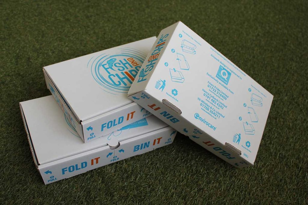 Saica Pack has created a collapsible fish and chip box