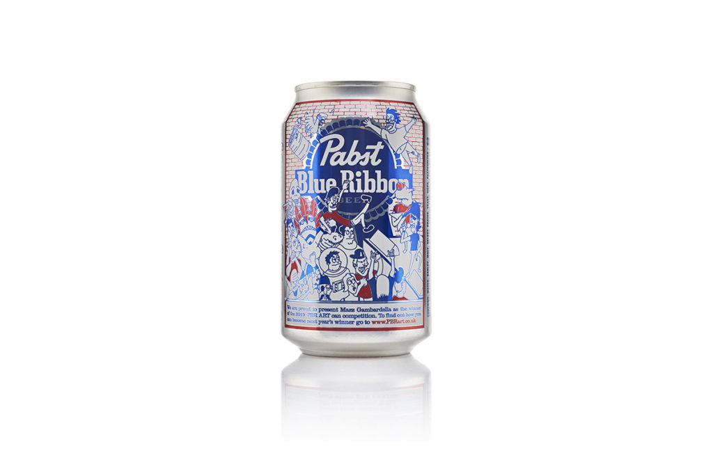 Pabst Blue Ribbon can