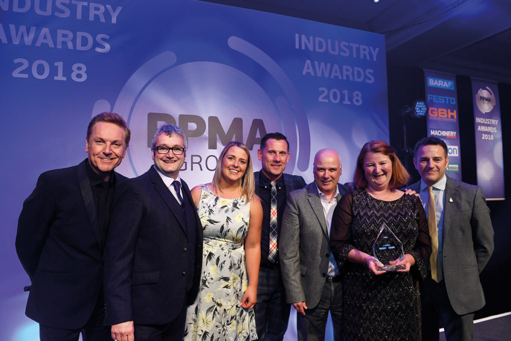 Brian Conley And Evolution at PPMA Group Industry Awards PPMA Best Award