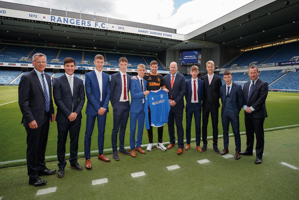 Steven Gerrard Rangers Football Club Carrick Packaging Official Academy And Development Team Partner New Season