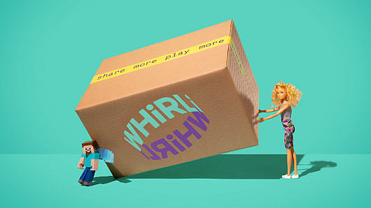 barbie picking up box