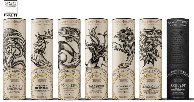 Game of Thrones whisky packaging up for award
