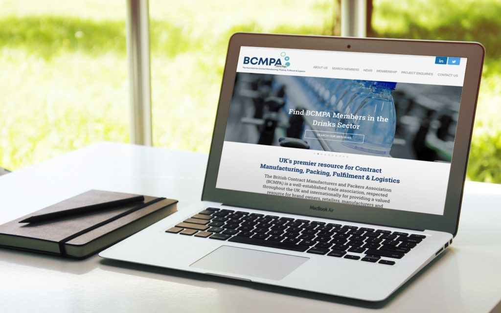 laptop loaded to BCMPA website