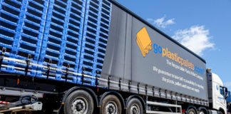 pallets on lorry