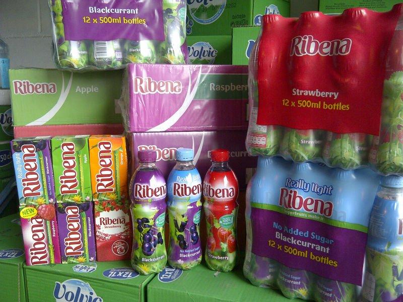 ribena packaging