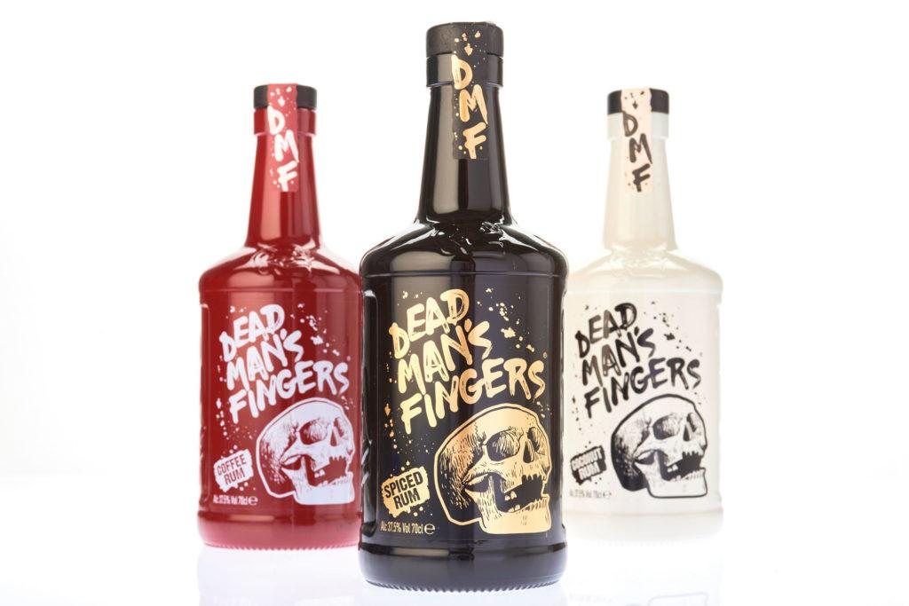 dead man's fingers rum bottles