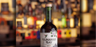 runaway bay bottle on bar